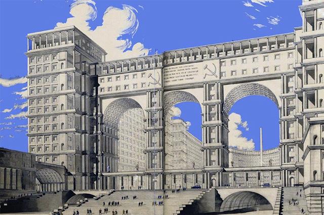 Проект здания Наркомата тяжёлой промышленности. Вариант. Архитектор И. Фомин (1934)