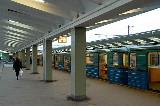 Станция «Выхино» (бывшая «Ждановская»).