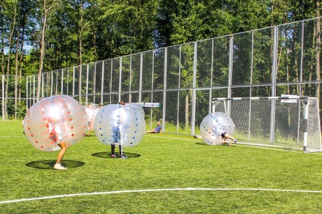 Игра в бампербол стала настоящим испытанием для игроков