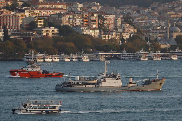 Корабль-разведчик ВМФ «Лиман».
