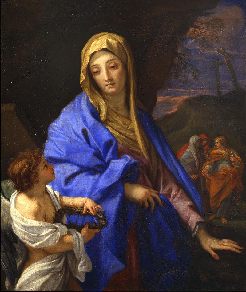 Карло Маратти. Богородица и три Марии у гроба Иисуса Христа.