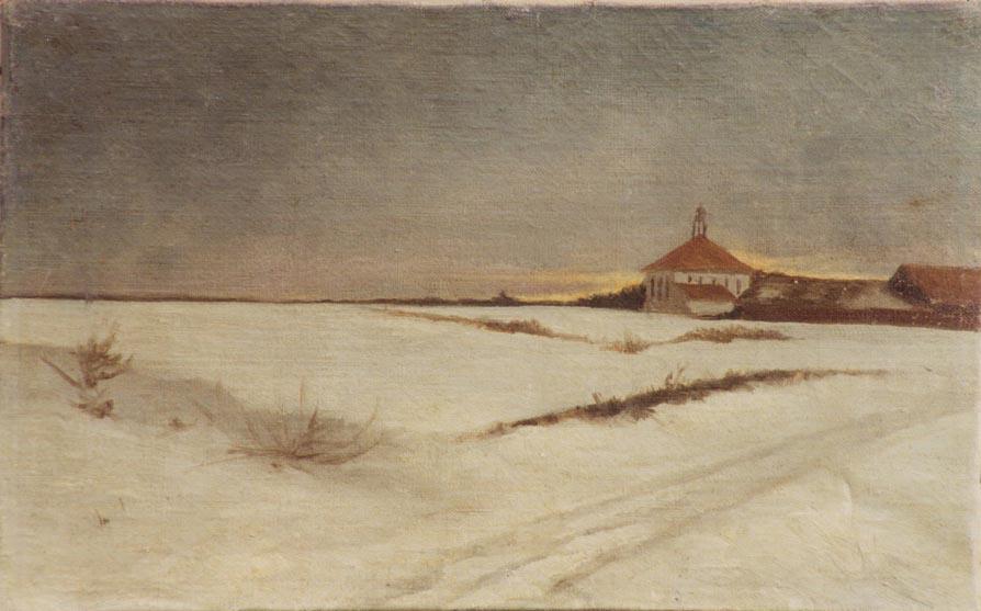 Тадас Даугирдас. Зимний пейзаж.