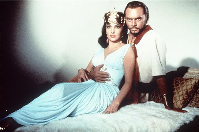 «Соломон и царица Савская», 1959 год. Юл Бриннер и Джина Лоллобриджида.