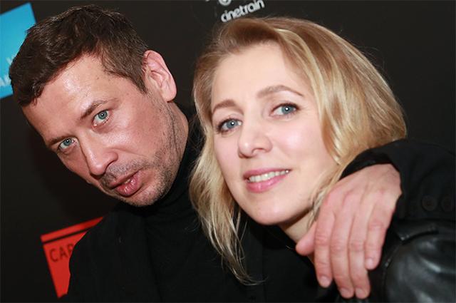 Актер Андрей Мерзликин с супругой Анной.