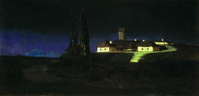 «Украинская ночь». 1876 г. Государственная Третьяковская галерея, Москва.