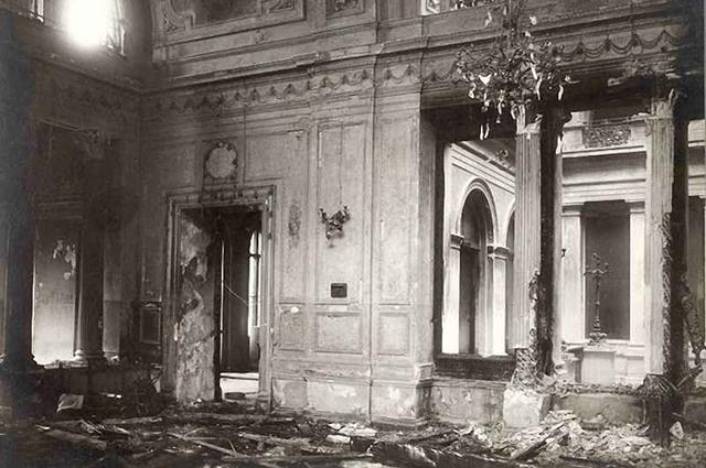 Последствия взрыва в Зимнем дворце.