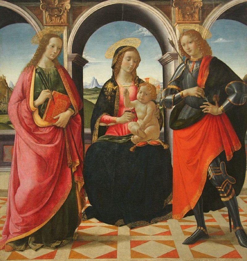 Давид Гирландайо. Богоматерь с младенцем и святыми Аполлонией и Себастьяном