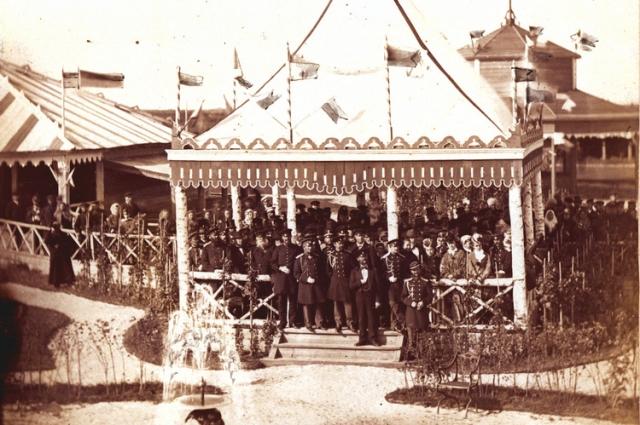 Так выглядел один из павильонов промышленной выставки 1871 года.