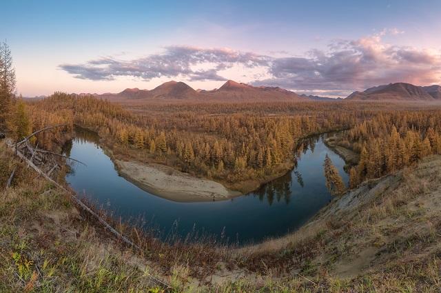 Река Кюбюме, Оймяконский район Якутии.
