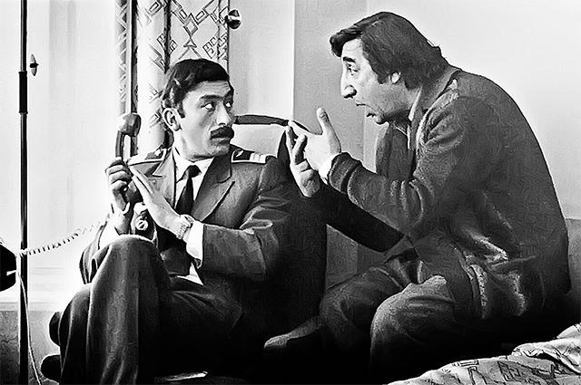 Вахтанг Кикабидзе и Фрунзик Мкртчян в фильме «Мимино», 1977 г.