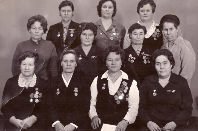 Ветераны-связистки из Тувы.
