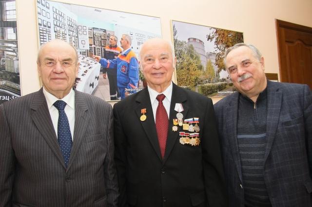 Ветераны омской энергетики: А. Стрельников, Б. Панов, В. Гаак.