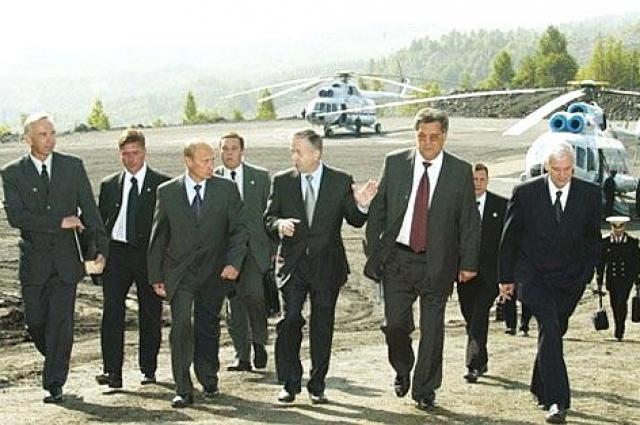 Первый визит Путина в Кузбасс: посещение шахты