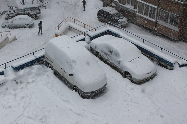 Снег во Владивостоке