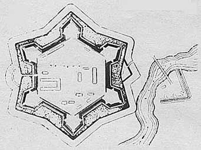 План крепости Грозная. 1918 г
