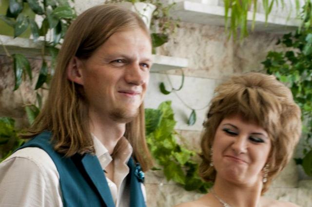 Церемония регистрации брака прошла в оранжерее.