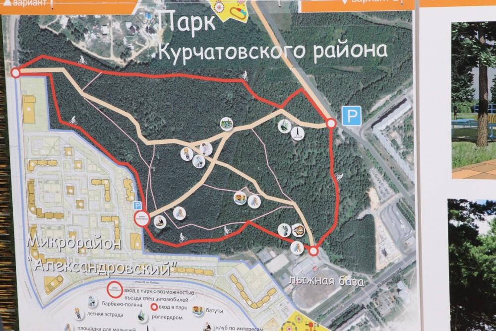 Схема парка, каким он был задуман по проекту.