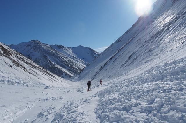 Бескрайняя снежная Аляска.