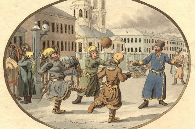 В 1793 году немецкий художник Кристиан Готфрид Генрих Гейслер во время путешествия по России нарисовал гравюру, на которой  запечатлена игра в килу.