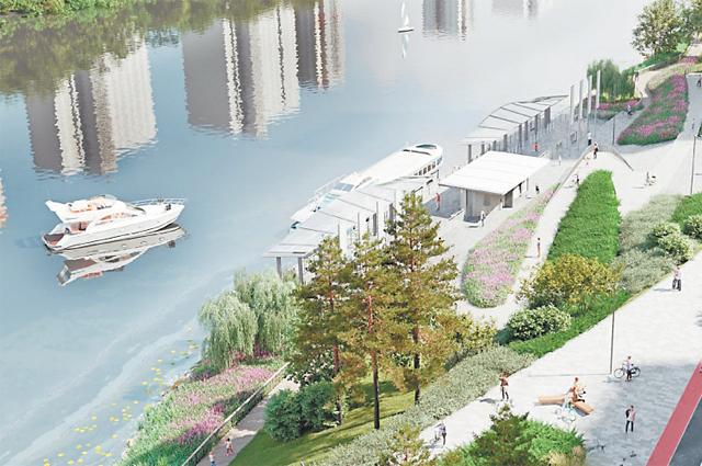 Проект включает в себя всё для полноценного отдыха горожан на берегах Москвы-реки.