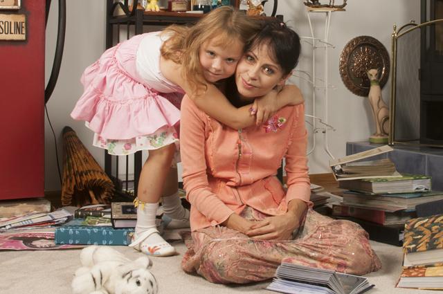 Марина Хлебникова с дочерью Доминикой.