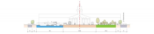 Под скейтпарком должна разместиться крытая автопарковка (помечена синим).