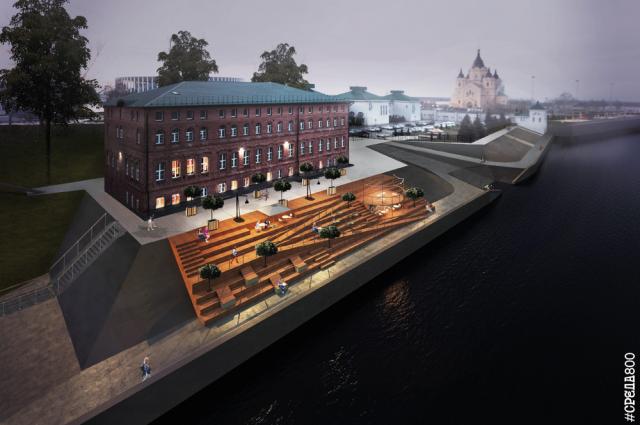 После реконструкции инфраструктура Окской набережной значительно расширится.