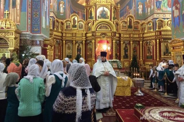 В кафедральном соборе Воскресения Христова.
