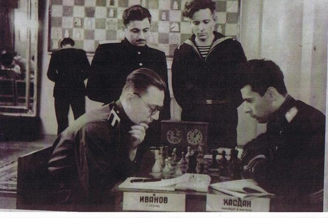 Шахматный дебют Иванова состоялся уже после войны.