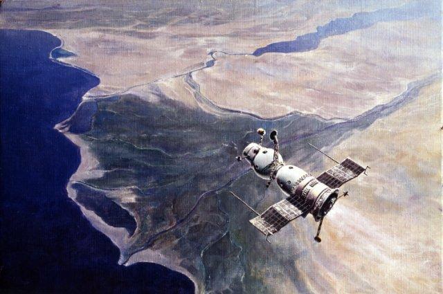 Космонавты встречают очень много закатов и рассветов.