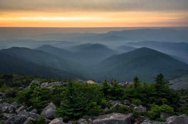 Вид с горы Пидан.