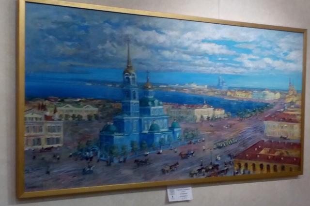 Таким увидел город омский художник Сергей Сочивко.