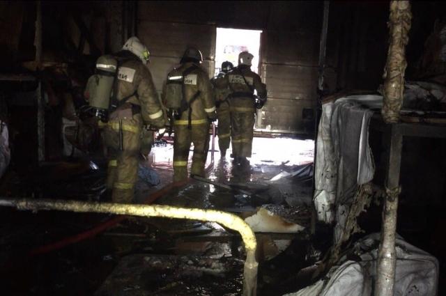 Площадь пожара составила 60 кв.метров