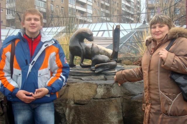 Марк Яворский с мамой Оксаной Николаевной.