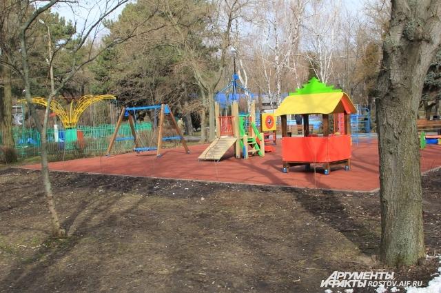 В парке комфортно и детям, и взрослым!