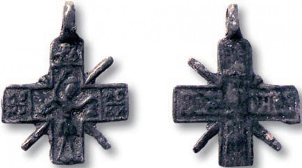 нательный крестик с Никитой Бесогоном.