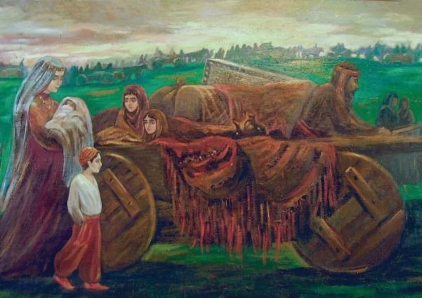В дороге переселенцы столкнулись с большими трудностями, к которым они не были готовы. Марина Чинчян «Переселение армян из Крыма на Дон».