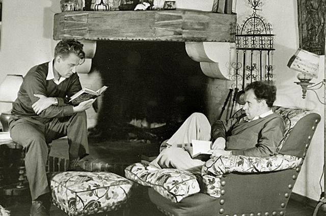Григорий Александров и Сергей Эйзенштейн в Голливуде. 1934 год