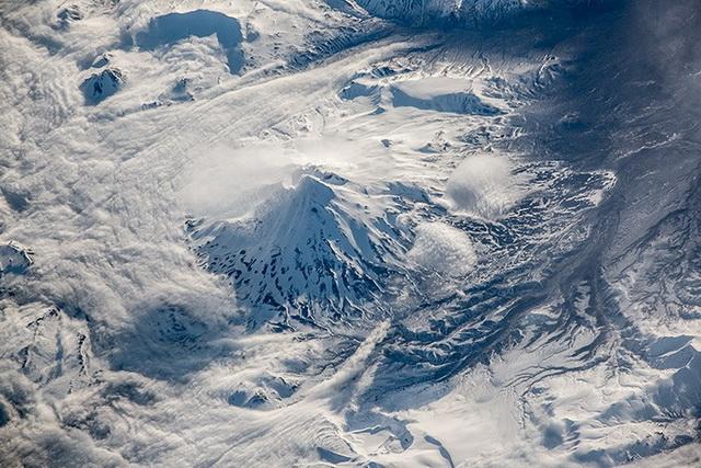 Снимок Камчатки из космоса.