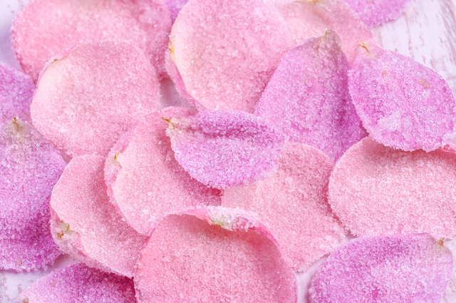 Засахаренные розы.