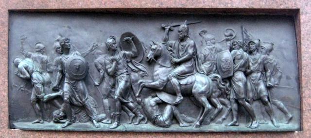 Горельеф с памятника Минину и Пожарскому