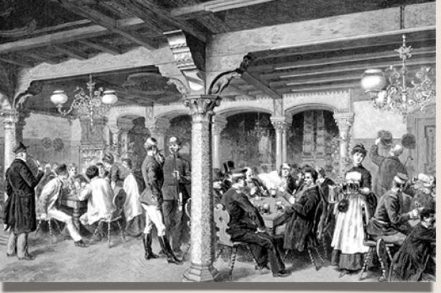 В трактирах 19 века гурьевская каша стала самым популярным лакомством.