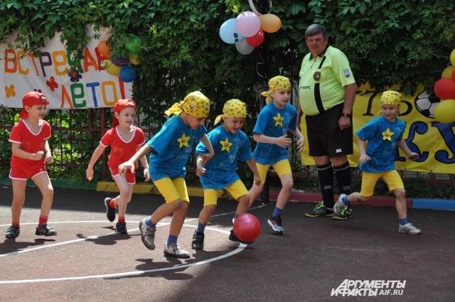 В 2015 году в Ростове-на-Дону впервые провели соревнования по футболу между детскими садами!