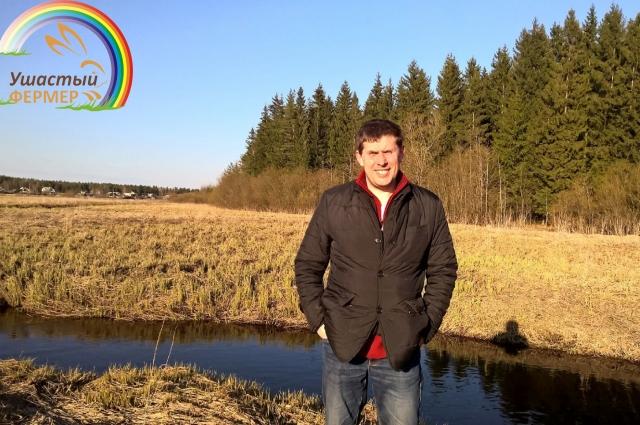 Сергей Ушанов держит фермерское хозяйство.
