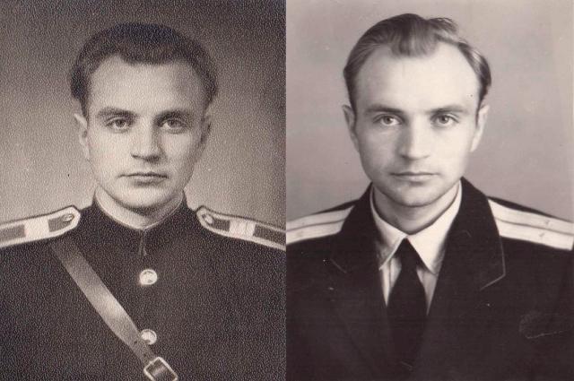 Анатолий Шаламов в разные годы во время службы в полиции