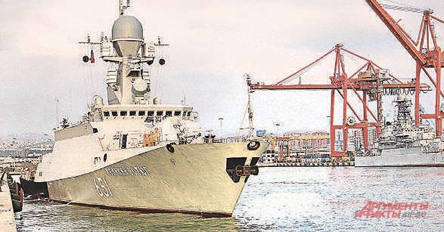 Малый ракетный корабль «Великий Устюг» выходит набоевое патрулирование.