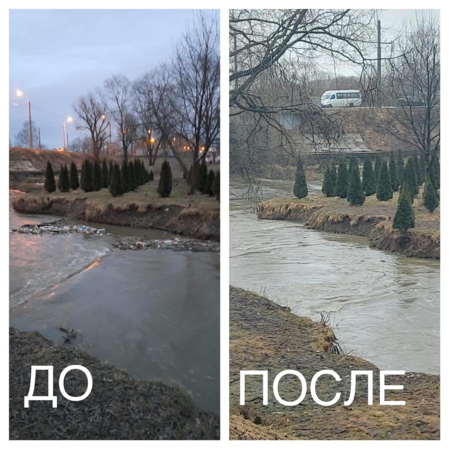 Из акватории Дудергофки экологи убрали груду мусора