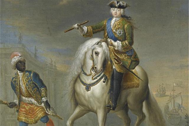 Портрет императрицы Елизаветы Петровны на коне. Георг Христофор Грот