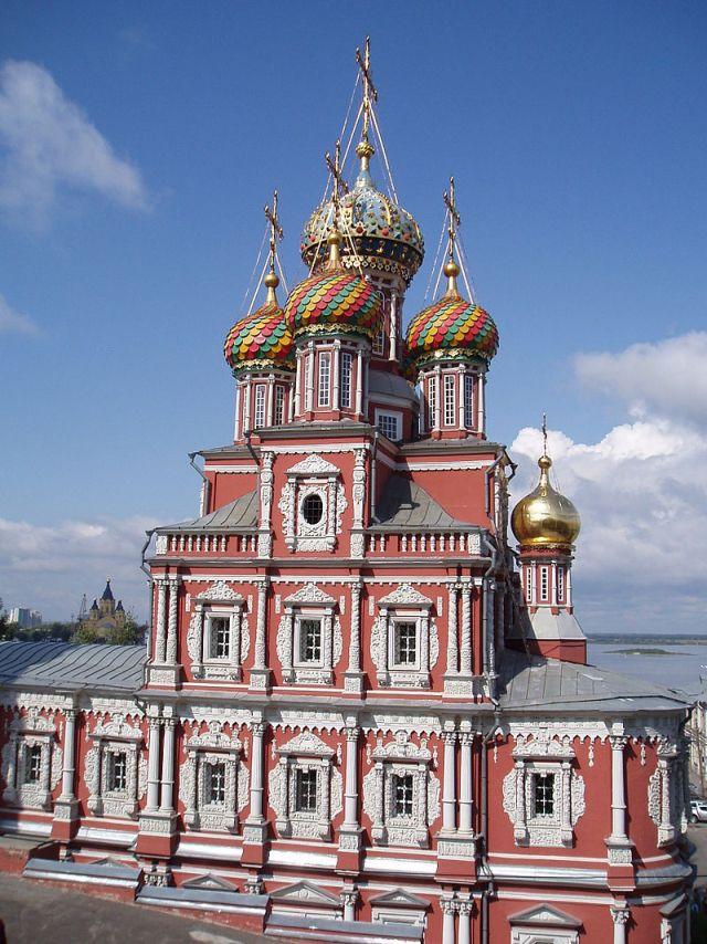 Строгановская церковь (Нижний Новгород, построена 1696—1701 гг).