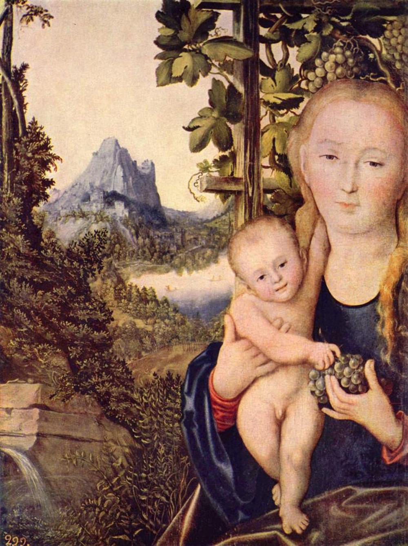 Лукас Кранах Старший «Мадонна с младенцем (Мадонна в винограднике)»
